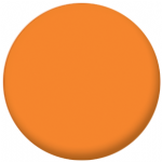 Plain Orange 58mm Fridge Magnet